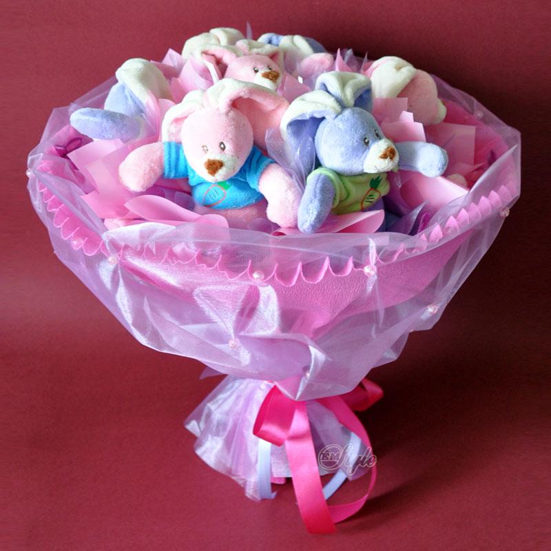 Детские букеты из игрушек своими руками пошаговое фото