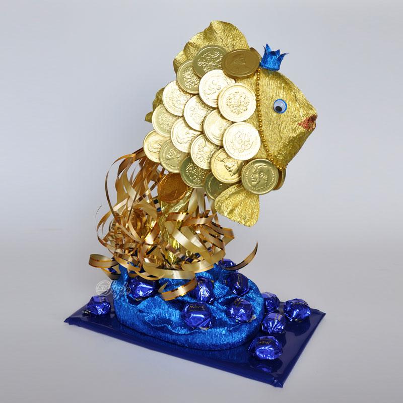 Поделка золотой рыбки 28